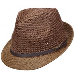 Dámský klobouk Scala Cro Toyo hnědý