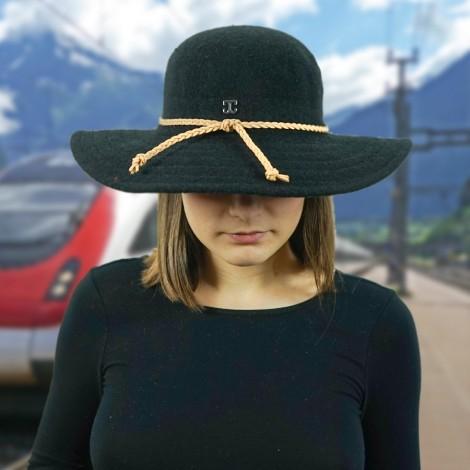 Dámský klobouk Callanan Round Crown černý