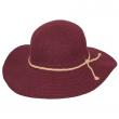 Dámský klobouk Callanan Round Crown vínový