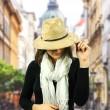Dámský klobouk Scala Faux Suede Safari béžový
