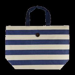 Plážová taška Cappelli Straworld Striped Tote tmavě modrá