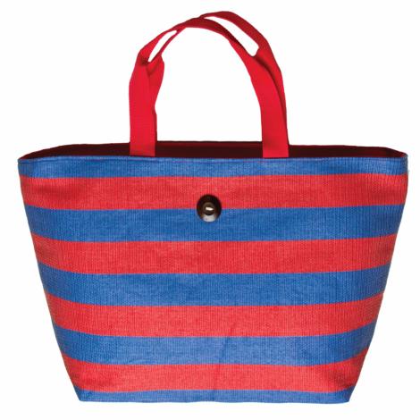 Plážová taška Cappelli Straworld Striped Tote červená