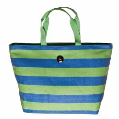Plážová taška Cappelli Straworld Striped Tote zelená