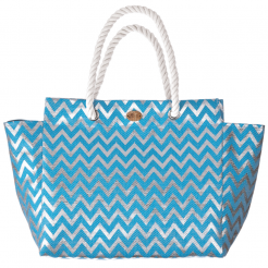 Plážová taška Cappelli Straworld Matalic modrá