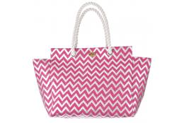 Plážová taška Cappelli Straworld Matalic růžová