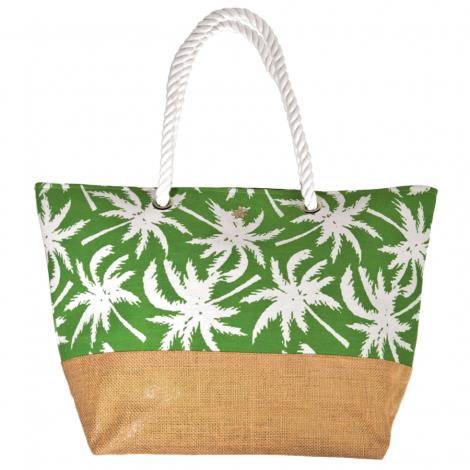 Plážová taška Cappelli Straworld Jute zelená