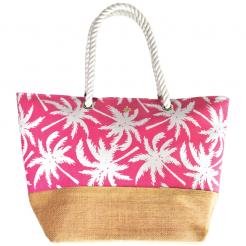 Plážová taška Cappelli Straworld Jute růžová