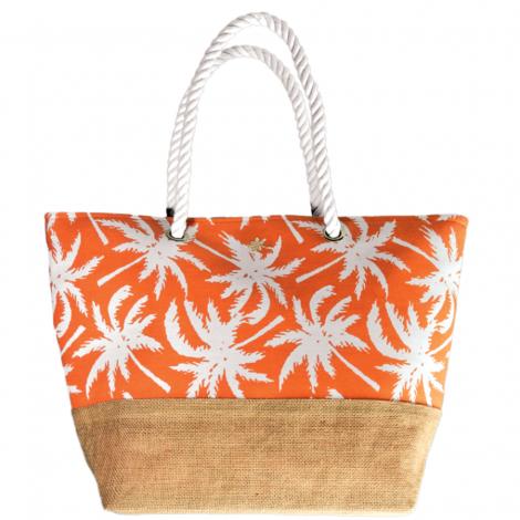 Plážová taška Cappelli Straworld Jute oranžová