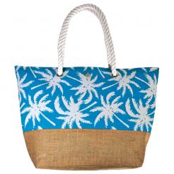 Plážová taška Cappelli Straworld Jute světle modrá