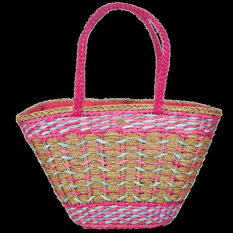 Plážová taška Cappelli Straworld Straw růžová