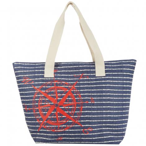 Plážová taška Cappelli Straworld Compass modrá