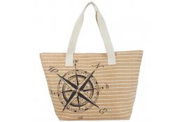 Plážová taška Cappelli Straworld Compass béžová