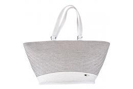 Plážová taška Cappelli Straworld Matalic Tote stříbrná