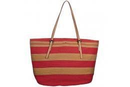 Plážová taška Cappelli Straworld Large Tote červená