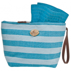 Plážová taška Cappelli Straworld Toyo světle modrá