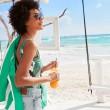 Plážová osuška Dock & Bay Beach zelená XL
