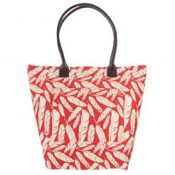Plážová taška Cappelli Straworld Print Tote červená