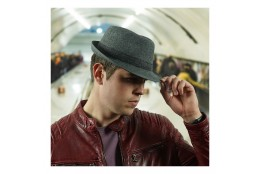 Pánský klobouk Dorfman Pacific Blend Fedora W/HB šedý