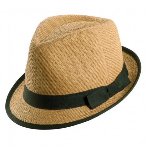 Dámský klobouk Tropical Trends Fedora béžový