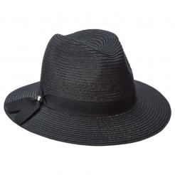 Dámský klobouk Scala Braid Safari černý