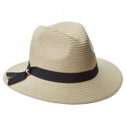 Dámský klobouk Scala Braid Safari béžový