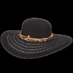 Dámský klobouk Cappelli Straworld Animal Print černý