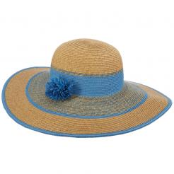 Dámský kloubouk Cappelli Straworld Pom Poms modrý