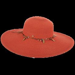 Dámský klobouk Cappelli Straworld Trim červený