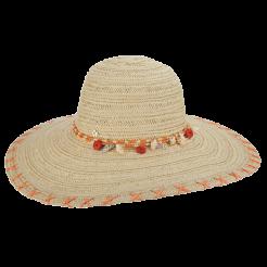 Dámský klobouk Cappelli Straworld Shell oranžový