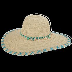 Dámský klobouk Cappelli Straworld Shell světle modrý