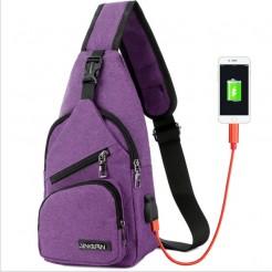Cestovní batoh s USB portem Cross fialový