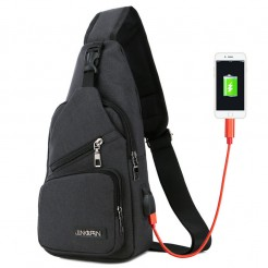 Cestovní batoh s USB portem Cross černý
