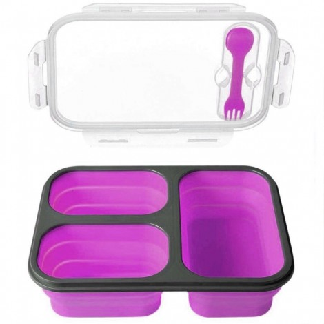 Svačinový box Bento fialový