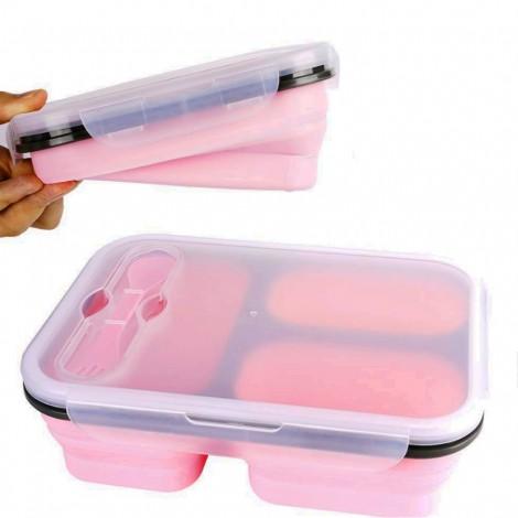 Svačinový box Bento růžový