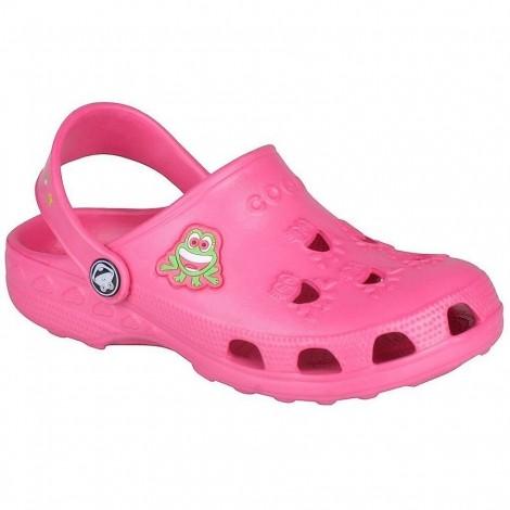 Dětské gumové boty Little Frog růžové
