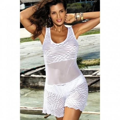 Plážové šaty Marko Model Vivian bílé