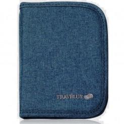 Peněženka na doklady Travelus modrá