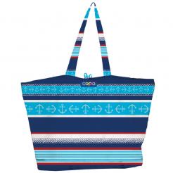 Plážová taška Copa Oxford Totes modročervená