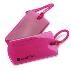 Jmenovka na zavazadla Travel Blue Jelly ID Tag (2ks) červená