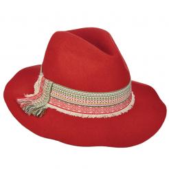 Dámský klobouk Scala Safari W/Woven červený
