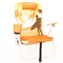Plážové křeslo Copa Drink Holder oranžové palmy