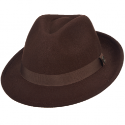 Pánský klobouk Dorfman Pacific Dapper hnědý