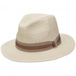 Pánský klobouk Scala Pensacola krémový